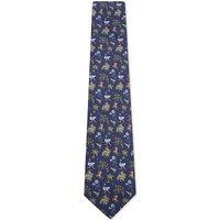 Jungle scene silk tie