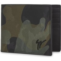 Holographic camouflage leather billfold wallet