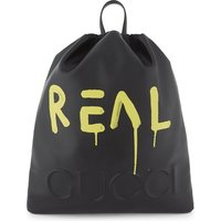 Gucci Ghost drawstring backpack