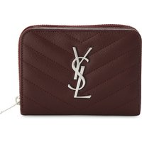 Monogram quilted leather purse
