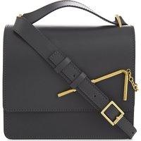 Straw leather shoulder bag