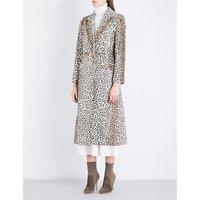 Ellis leopard-print cotton-blend coat