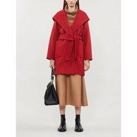 Max Mara Rialto hooded camel hair coat, Women's, Size: 09/01/1900, Red