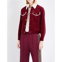 Cropped cotton corduroy jacket