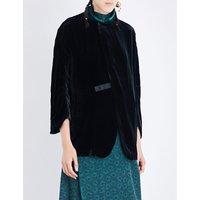 Toga Ladies Black Timeless Long-Sleeved Velvet Jacket