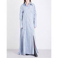 Check cotton maxi dress