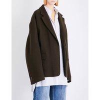 Oversized stretch-wool coat