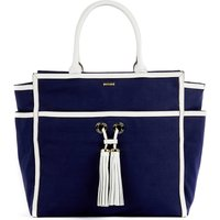 Melissa Odabash Palm Beach canvas tote bag, Women's, Size: 1SIZE, Navy