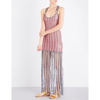 Fringed knitted maxi dress