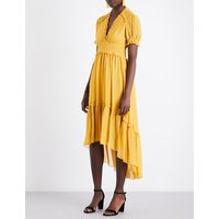 Sonja pleated silk dress