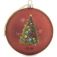 Santa Claus and Christmas tree hanging decoration 10cm
