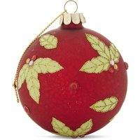 Holly bauble 8.5cm