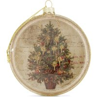 Nostalgic scene Christmas tree decoration 9.5cm