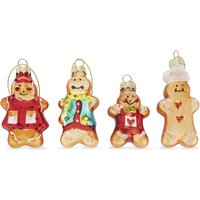 Gingerbread men hanging tree decorations