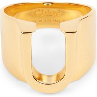 Chloe Alphabet U ring, Size: 54mm, Gold