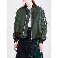 MA-1 satin jacket