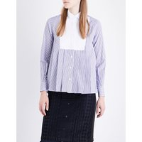 Pleated jersey shirt