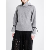 Turtleneck wool-blend jumper
