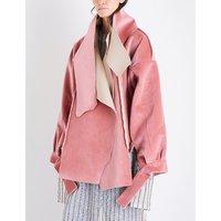 Oversized cotton-velvet jacket