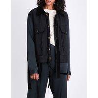 Worker satin and velvet jacket