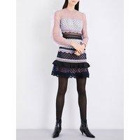 Bellis lace-trim guipure-lace dress