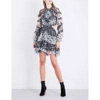 Divinity ruffle silk-chiffon dress