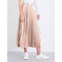Bobby plissé metallic skirt
