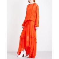 Martina ruffle-trim chiffon maxi dress