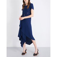 Sophie buttoned crepe dress