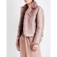 Wanda shearling and cotton-blend jacket