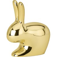 Polished brass rabbit paper weight