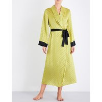 Ladybird silk-satin dressing gown
