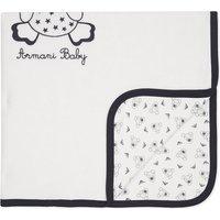 Logo velour baby blanket