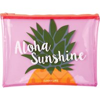 Pineapple transparent beach pouch