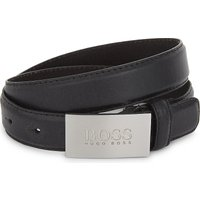 Logo buckle leather belt 6-16 years