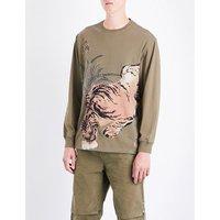 Tiger jungle-print cotton-jersey T-shirt