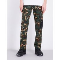Camouflage cotton jogging bottoms