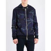 Camo-print shell jacket