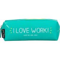 Vinyl I Love Work pencil case