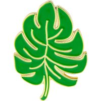 Palm leaf enamel pin