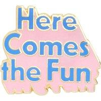 Bando 'Here comes the fun' enamel pin