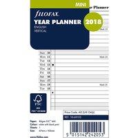 Filofax mini year planner vertical 2018