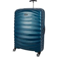 Samsonite Lite-Shock spinner 81 four-wheel suitcase, Petrol blue