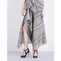 Haxby metallic-cloqué skirt