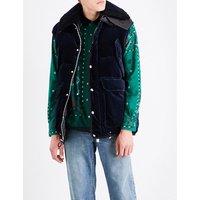 Contrast velvet jacket