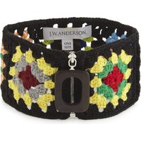 Crocheted wool-blend neckband