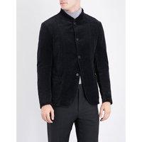 Herringbone velvet jacket