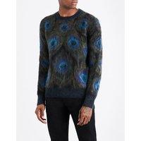 Peacock mohair-blend jumper