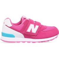 New Balance 574 suede trainers 6-11 years, Size: EUR 32 / 13 UK KIDS, Pink