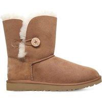 Ugg Bailey button sheepskin boots 8-10 years, Size: EUR 36 /3.5 UK, Brown